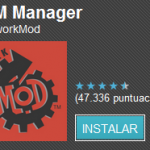 Rom Manager 4.0 para dispositivos root