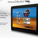 Emulador del nuevo Samsung Galaxy Tab 10.1