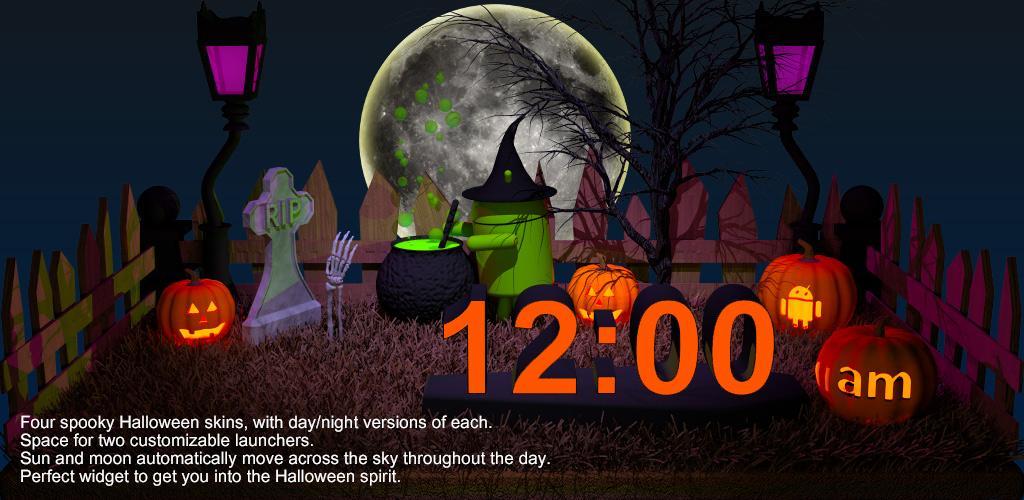 Aplicación Halloween Clock