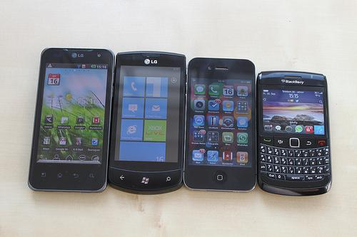 Diferentes sistemas operativos para móviles