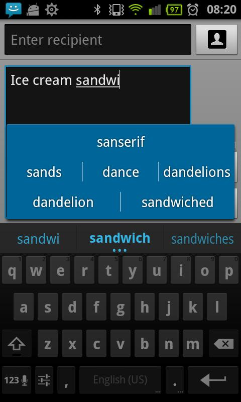Teclado Ice Cream Sandwich