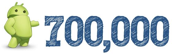 700 k android smartphones activados por día