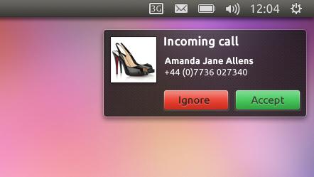 Llamada entrante Ubuntu