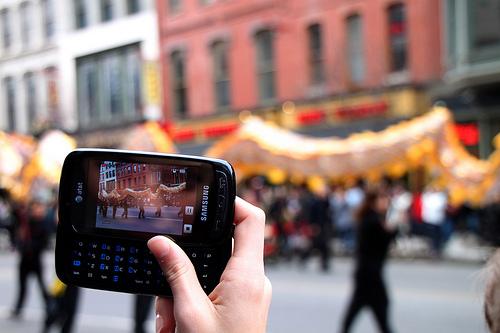 Foto con smartphone