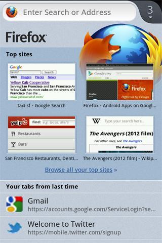 Firefox Beta sistema de pestañas