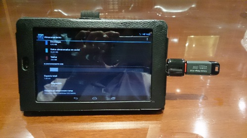 Adaptador USB Ksix en Nexus 7