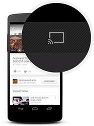 Envío a Chromecast desde la app de Youtube