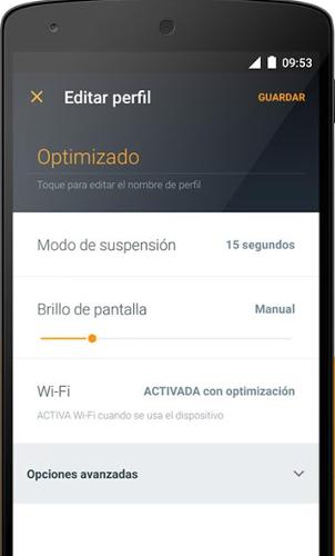 Avast Battery Saver: configurar perfiles